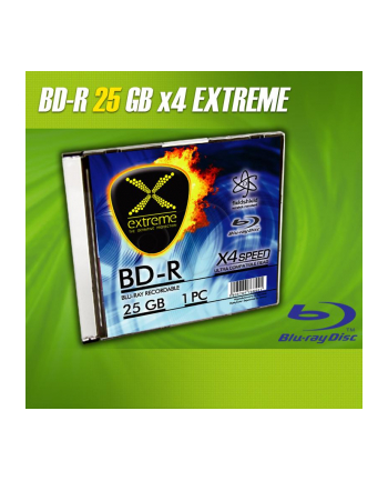 BluRay BD-R EXTREME 25GB x4 - Slim case 1 szt.