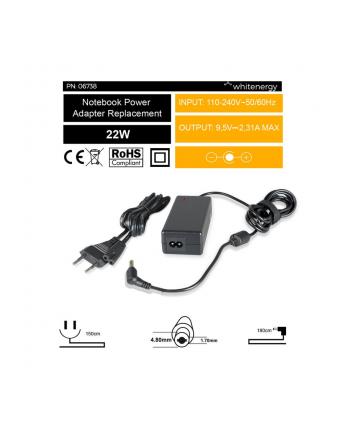Whitenergy zasilacz 9.5V/2.31A 22W wtyczka 4.8x1.7 mm Asus EEE PC 701