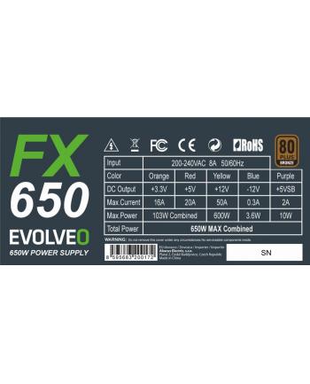 Evolveo FX 650 650W ATX 14cm 80+ bronze bulk