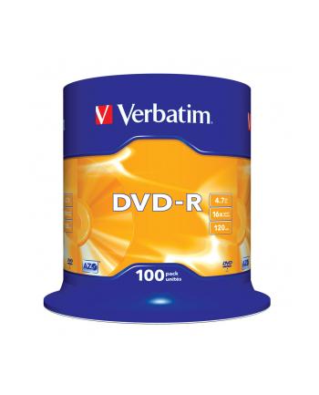 DVD-R VERBATIM 43549 4.7GB 16x CAKE 100 SZT