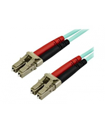 10m OM4 LC to LC Multimode Duplex Fiber Optic Patch Cable - patch cable - 10 m - aqua (450FBLCLC10)