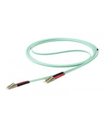 Startech.COM 15M OM4 LC TO LC MULTIMODE DUPLEX FIBER OPTIC PATCH CABLE - PATCH CABLE - 15 M - AQUA (450FBLCLC15)