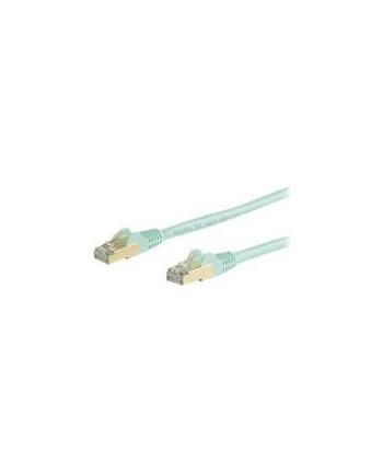 Startech.COM 10M CAT6A ETHERNET CABLE - AQUA RJ45 SHIELDED CABLE - SNAGLESS - PATCH CABLE - 10 M - AQUA  (6ASPAT10MAQ)
