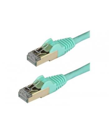 Startech.COM 7.5 M CAT6A CABLE - AQUA - RJ45 ETHERNET CABLE - SNAGLESS - CAT6A STP CORD - COPPER WIRE - 10GB - PATCH CABLE - 7.5 M - AQUA  (6ASPAT750C