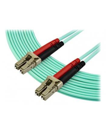 Startech.COM 7M OM3 LC TO LC MULTIMODE DUPLEX FIBER OPTIC PATCH CABLE - PATCH CABLE - 7 M - AQUA (A50FBLCLC7)