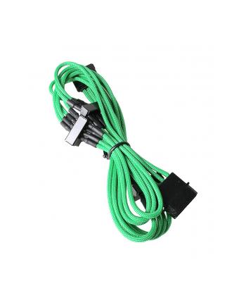 bitfenix Rozgałęźnik Molex na 4x SATA 20cm opływowy zielono czarny (BFA-MSC-M4SA20GK-RP)