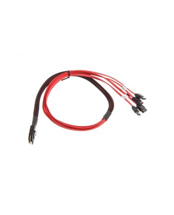 InLine Mini-SAS na 4 x SATA 0.75m Czerwony (27610)