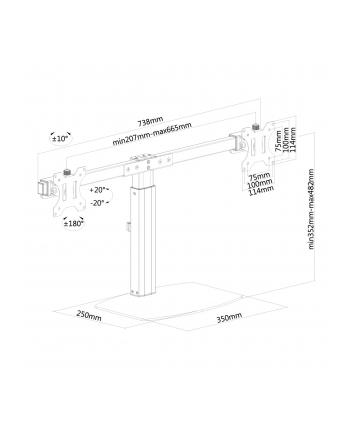 Newstar Fpma-D865Dblack Desk Mount