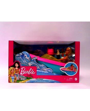 Barbie Motorówka + Lalka GRG30 MATTEL