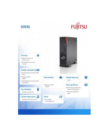 fujitsu Komputer Esprimo D7010/W10Pr i5-10400/8GB/256GBSSD PCK:D7010PC50MPL