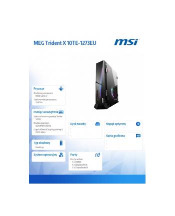 msi Mini PC MEG TridentX 10TE-1273(wersja europejska)/WIN10H/i7-10700K/32GB/1T/RTX3080
