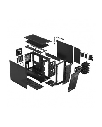 fractal design Obudowa Meshify 2 Compact Black TG Dark Tint ciemne szkło