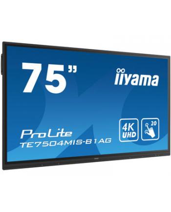 iiyama Monitor wielkoformatowy TE7504MIS-B1AG 75cali PureTouch-IR, IPS, 24/7, 4K, USB-C