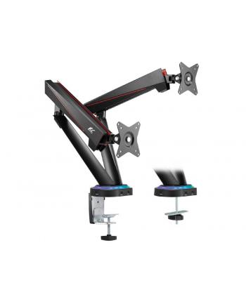 nano rs MACLEAN UCHWYT GAMINGOWY NA 2 MONITORY LCD 17-32  2X 8KG (MAX 16KG) VESA 75X75 ORAZ 100X100 RS887