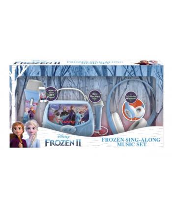 ekids Frozen 2 Gift Box ze słuchawkami, Boombox karaoke, mikrofonem MP3 ze światłami FR-V303