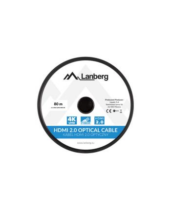 lanberg Kabel HDMI M/M v2.0 80m czarny CA-HDMI-20FB-0800-BK