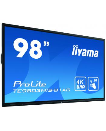 IIYAMA 98''TE9803MIS-B1 INFRARED,4K,IPS,18/7,20p.dotyk,PC slot