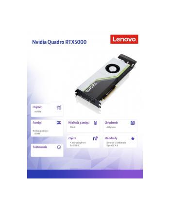 lenovo Karta graficzna ThinkStation Nvidia Quadro RTX5000 16 GB GDDR6 z długim przedłużaczem 4X60U98733