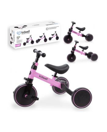 Rowerek biegowy trójkołowy 3w1 PICO różowy kidwell