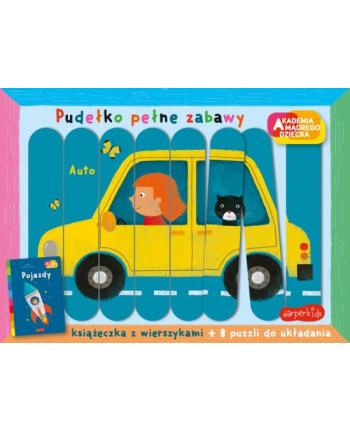 harpercollins Książka Akademnia mądrego dziecka. Pudełko pełne zabawy. Pojazdy.