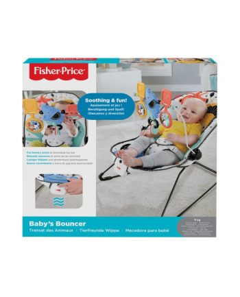 Fisher-Price Baby Gear Leżaczek maluszka Dżungla GNR00 MATTEL