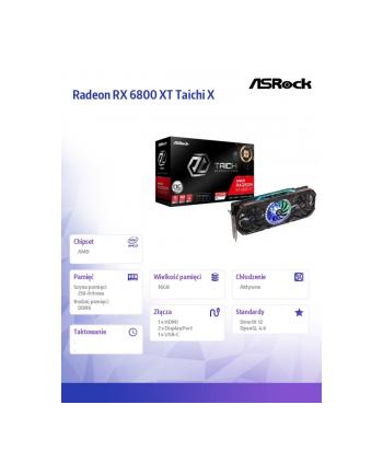 asrock Karta graficzna Radeon RX 6800 XT Taichi X 16GB OC 256bit GDDR6 2DP/HDMI