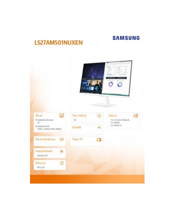 samsung Monitor 27 cali LS27AM501NUXEN VA 1920x1080 FHD 16:9 8 ms (GTG) Smart płaski
