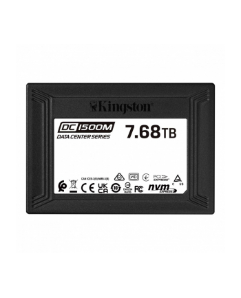 kingston Dysk SSD DC1500M 7680GB U.2 NVMe 3100/2700 MB/s