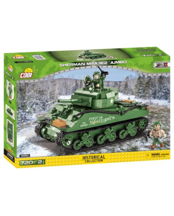 COBI 2550 Historical Collection WWII Czołg Sherman M4A3E2 Jumbo 720 klocków