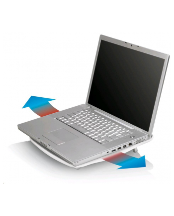 Podstawka chłodząca BELKIN F5L025ea z Hubem Cooling Hub, zasilanie przez USB, 4xUSB, biała