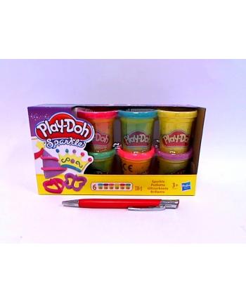 hasbro PLD ciastolina tuby 6-pack błyszczące A5417 /4