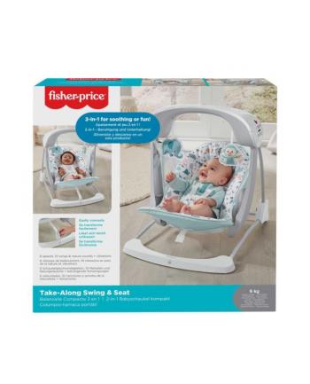 Fisher-Price Baby Gear Leżaczek huśtawka pastelowy GPD12 p2 MATTEL