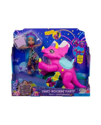 Cave Club Tella + Muzyczny dinozaur Partyceratops GXP20 p2 MATTEL