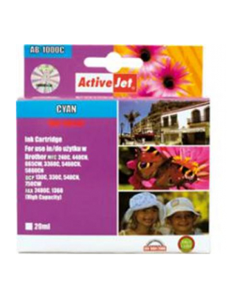 ActiveJet for Brother LC1000C, Cyan ink cartridge