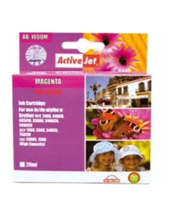 ActiveJet for Brother LC1000M, Magenta ink cartridge