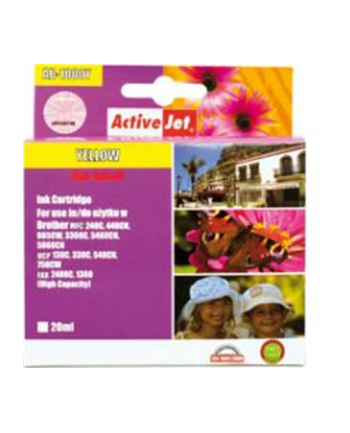 ActiveJet for Brother LC1000Y, Yellow ink cartridge