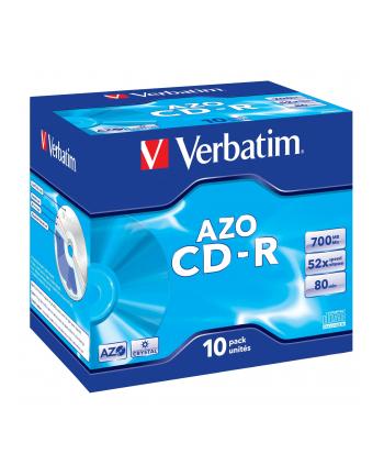 Verbatim CD-R 80/700MB 52X extra protection crystal/AZO jewel box - 43327
