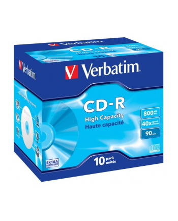 Verbatim CD-R 90/800MB 40X High Capacity extra protection AZO jewel box - 43428