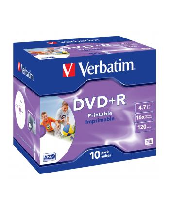 Verbatim DVD+R 4.7GB 16X AZO jewel box WIDE PRINTABLE - 43508