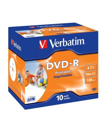Verbatim DVD-R 4.7GB 16X AZO jewel box WIDE PRINTABLE - 43521