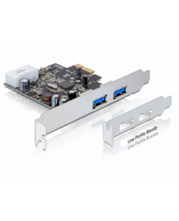 ''KARTA PCI EXPRESS->USB 3.0 2-PORT DELOCK + ŚLEDŹ LOW PROFILE''