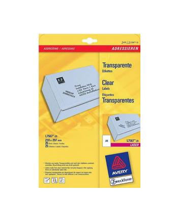 Przezroczyste etykiety Zweckform-  do drukarek laserowych