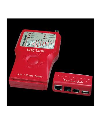 Uniwersalny tester kabli RJ45-11/BNC/USB/IEEE1394