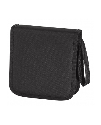 CD-WALLET 16 CD NYLON CZARNY