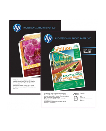 PAPIER HP PHOTO LASER GLOSSY 200g A4 100ark    CG966A