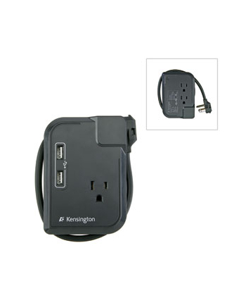 Listwa Travel Portable Outlet with USB and Surge Protection