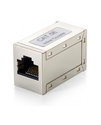 Adapter zlaczka sieciowa 2xRJ45 F/F KAT5E Ekran