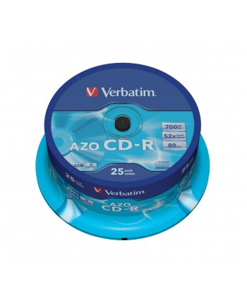 CD-R VERBATIM 52X 700MB CRYSTAL CAKE 25