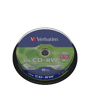 CD-RW VERBATIM 700MB 12X CAKE(10)