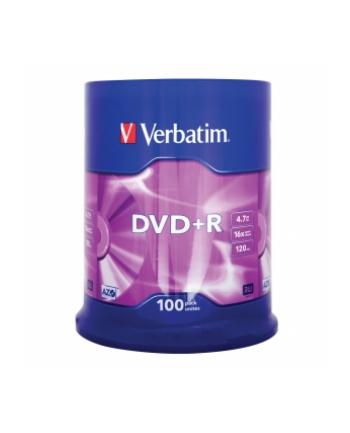 DVD+R Verbatim 4.7GB 16xSpeed (Cake 100szt)